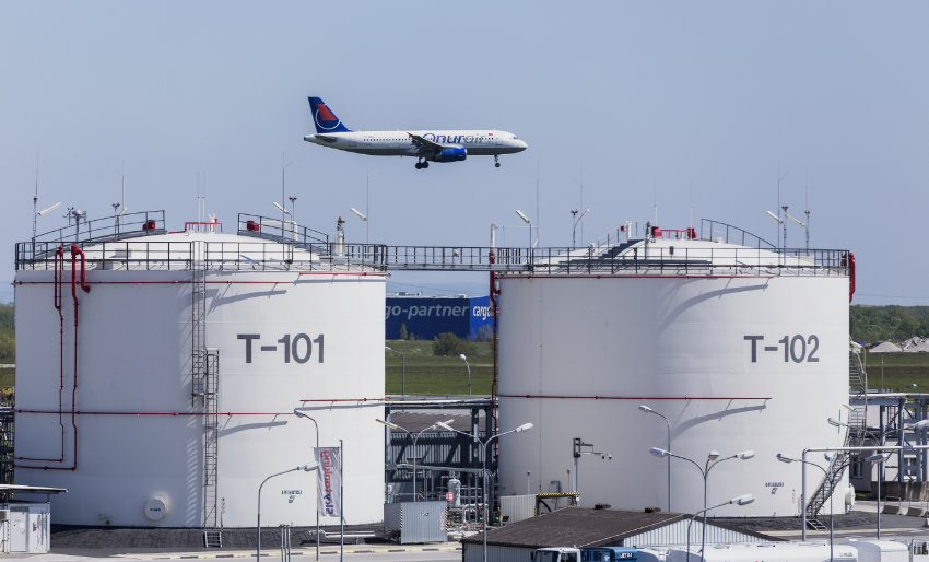 Aviation Storage Tank on Airport