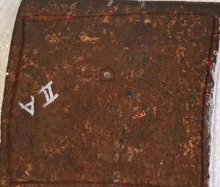 Damaged Steel Surface - Before Sealing Kit Repair