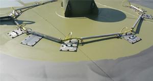 Tank roof lining process